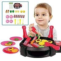 ままごとバーベキュー 知能玩具 ミニBBQ 子供おもちゃ キッチンセット 面白い玩具 子供の誕生日プレゼント 入園お祝い 子インタラクティブ玩具セット