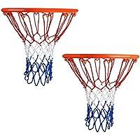 plasmaller 2パックバスケットボールネットHeavy Dutyプロフェッショナルアウトドアインドア12ループ4 mm