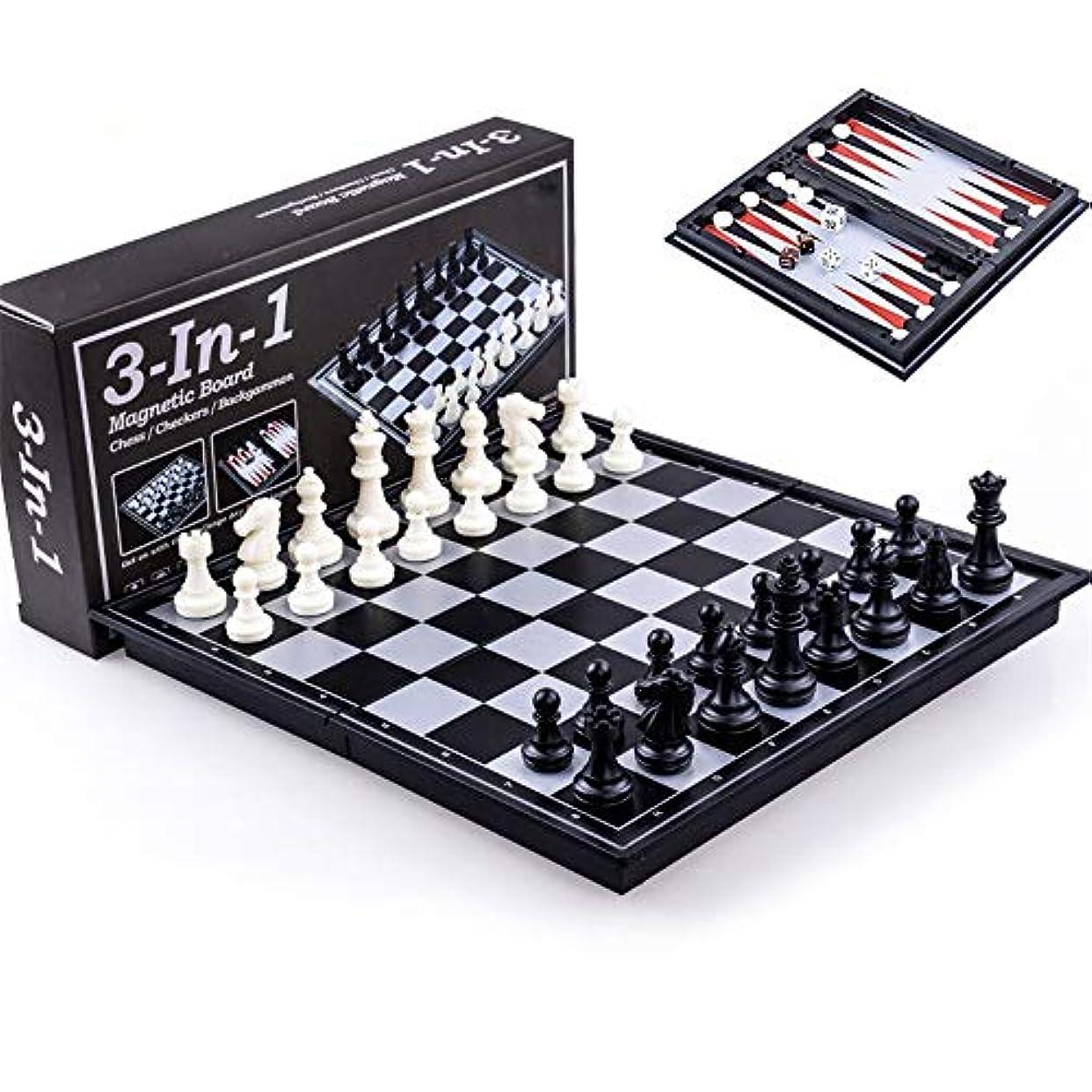 事実上ユーモア繰り返したチェスセット チェス盤の教育ゲームを折る大人そして子供のために置かれる磁気旅行チェス 子供と大人のための (色 : As picture, サイズ : 36x37x2.5cm)