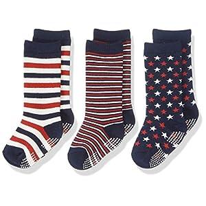3足組子供靴下ハイソックス 9cm - 14 cm