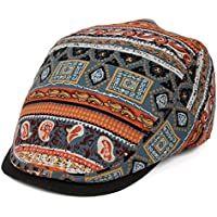 JIALANG Ethnic Style Cotton Linen Thin Breathable Sun Hat Retro Chinese Peaked Beret (Color : Red)