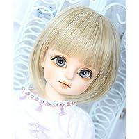 Linfairy 8~9 inch 1/3 サイズ ドール用 ウィッグ フィギュア 人形用 BJD 短い髪 Short Hair (Blonde)