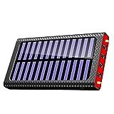 TSSIBE モバイルバッテリー 24000mAh 大容量 二個LEDランプ搭載 QuickCharge 電源充電可能 三つ入力ポート(MicroUSB/Lightning/Type-C入力ポート)四つ出力ポート 電気量指示ランプ付き Android/iPhone/iPad/ゲーム機/カメラ等に対応 災害/旅行/アウトドアに大活躍 (赤)