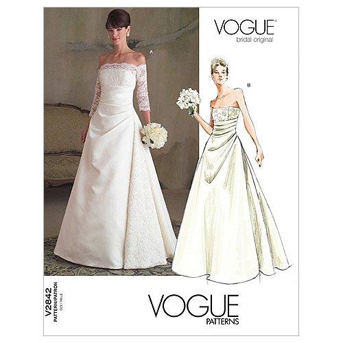 【vogue patterns】ウェディングドレス型紙 サイズ:US6-8-10