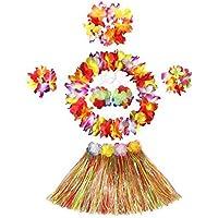 子供たちのための多彩なハワイアンフラダンスコスチュームセットダンスコスチューム