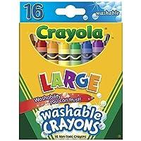 Crayola 52 – 3281 Large Washableクレヨンアソートカラー16カウント