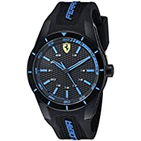 Ferrari Men's 0830247 REDREV Analog Display Japanese Quartz Black Watch