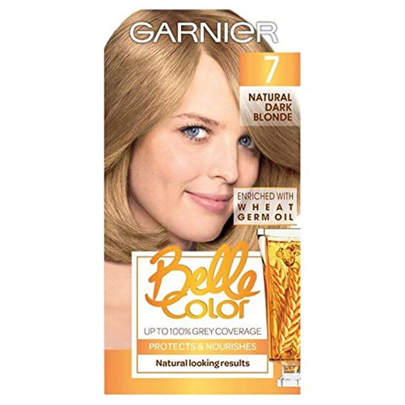 博物館ナット額[Belle Color ] ガーン/ベル/Clr 7ナチュラルダークブロンドパーマネントヘアダイ - Garn/Bel/Clr 7 Natural Dark Blonde Permanent Hair Dye [並行輸入品]
