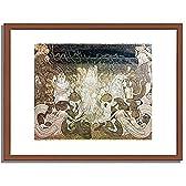 ヤン・トーロップ「3人の花嫁」 インテリア アート 絵画 プリント 額装作品 フレーム:木製(茶) サイズ:S (221mm X 272mm)