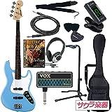 SELDER セルダー ベース ジャズベースタイプ JB-30/UBL VOX amPlug2【アンプラグ2 AP-BS(BASS)】サクラ楽器オリジナルセット