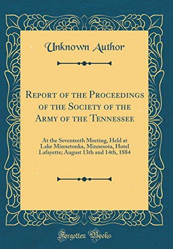 Report of the Proceedings of t...