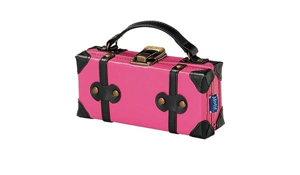 a612f0c931 Amazon.co.jp: トランク型メガネケース/サングラスケース/ペンケース/フェイクレザー革/ふでばこ/ブランドMotifモチーフ/ピンク:  服&ファッション小物