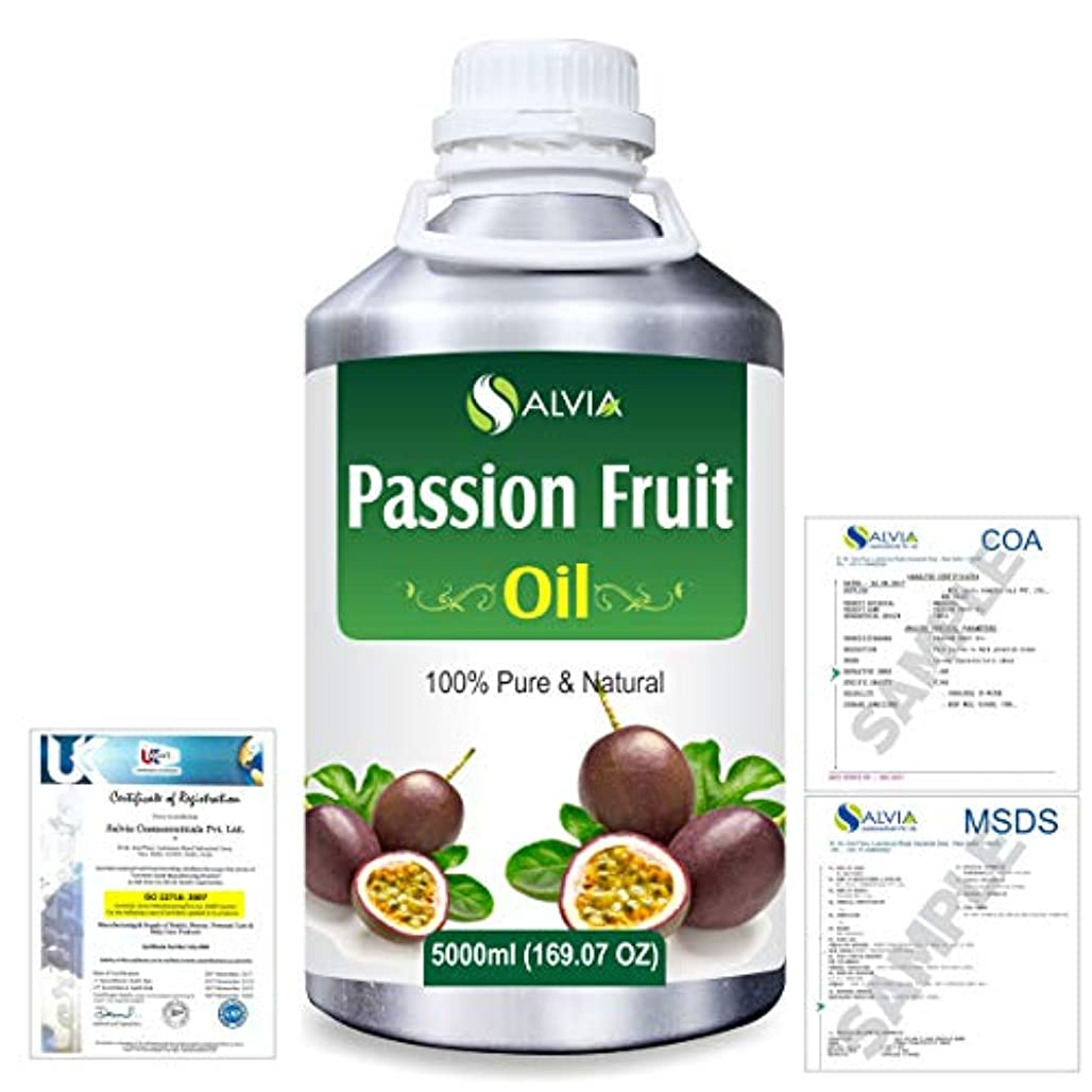 タイプライター恥ずかしさ拒否Passion Fruit (Maracuja) Natural Pure Undiluted Uncut Carrier Oil 5000ml/169 fl.oz.