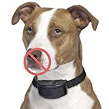 Petacc 犬無駄吠え防止首輪 犬の訓練首輪 しつけ用首輪 調節可能な警告音と低周波静電気パルス感度で制御 愛犬しつけ用バークコントロール 小中大型犬に適用 ブラック
