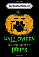 Composition Notebook: Drummer Pumpkin Carving Halloween Drum Stick Rock Roll Band, Journal 6 x 9, 100 Page Blank Lined Paperback Journal/Notebook