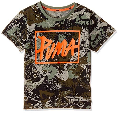 [プーマ] トレーニングウェア STYLE グラフィック Tシャツ AOP 853695 [ボーイズ] ローレル リース (63) 日本 120 (日本サイズ120 相当)
