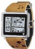 [エプソン スマートキャンバス]EPSON smart canvas ミッキーマウス ヴィンテージシリーズ ブラウン 腕時計 W1-DY10110