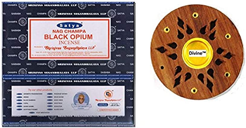 劇作家重力ルーチンSatya Nag Champa Black Opium Incense Sticks -12Packs x 15g (180g)