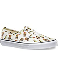 【VANS WOMENS】AUTHENTIC DRAINED AND CONFUSED WHITE オーセンティック レディース バンズ