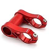 SENQI BMX ショートリーチ ステム 軽量 アルミニウム合金 折りたたみ 自転車用 ハンドルバーステム 調整可 25.4mm(レッド)