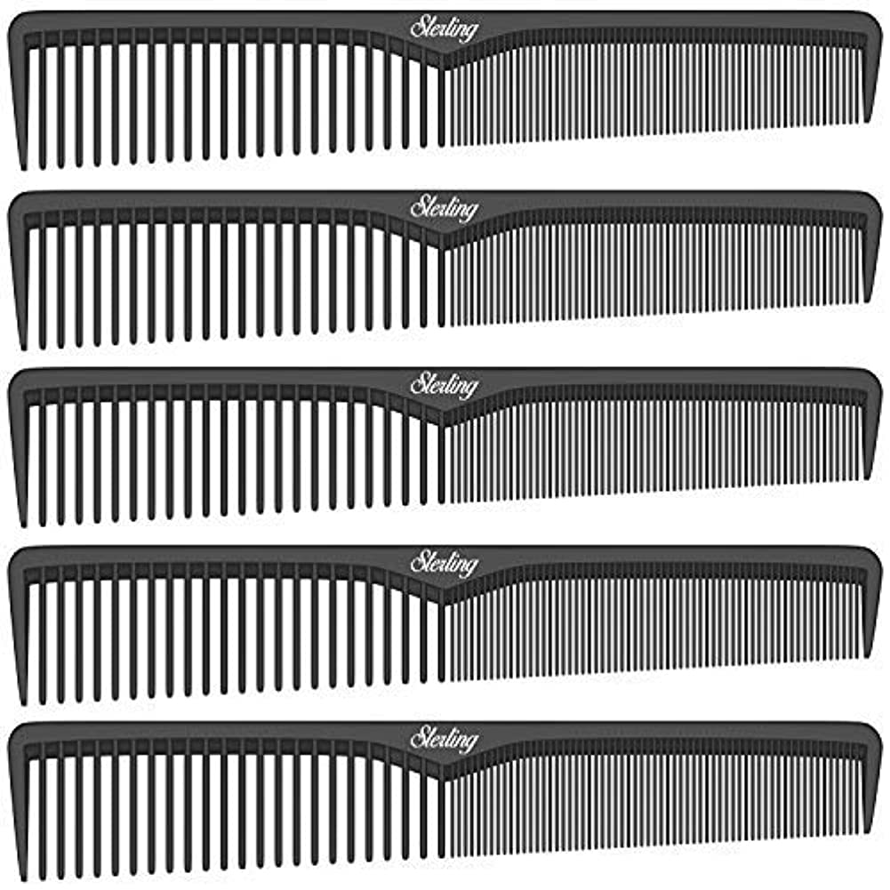配管準備した狂乱Sterling Beauty Tools Styling Combs, Professional 7