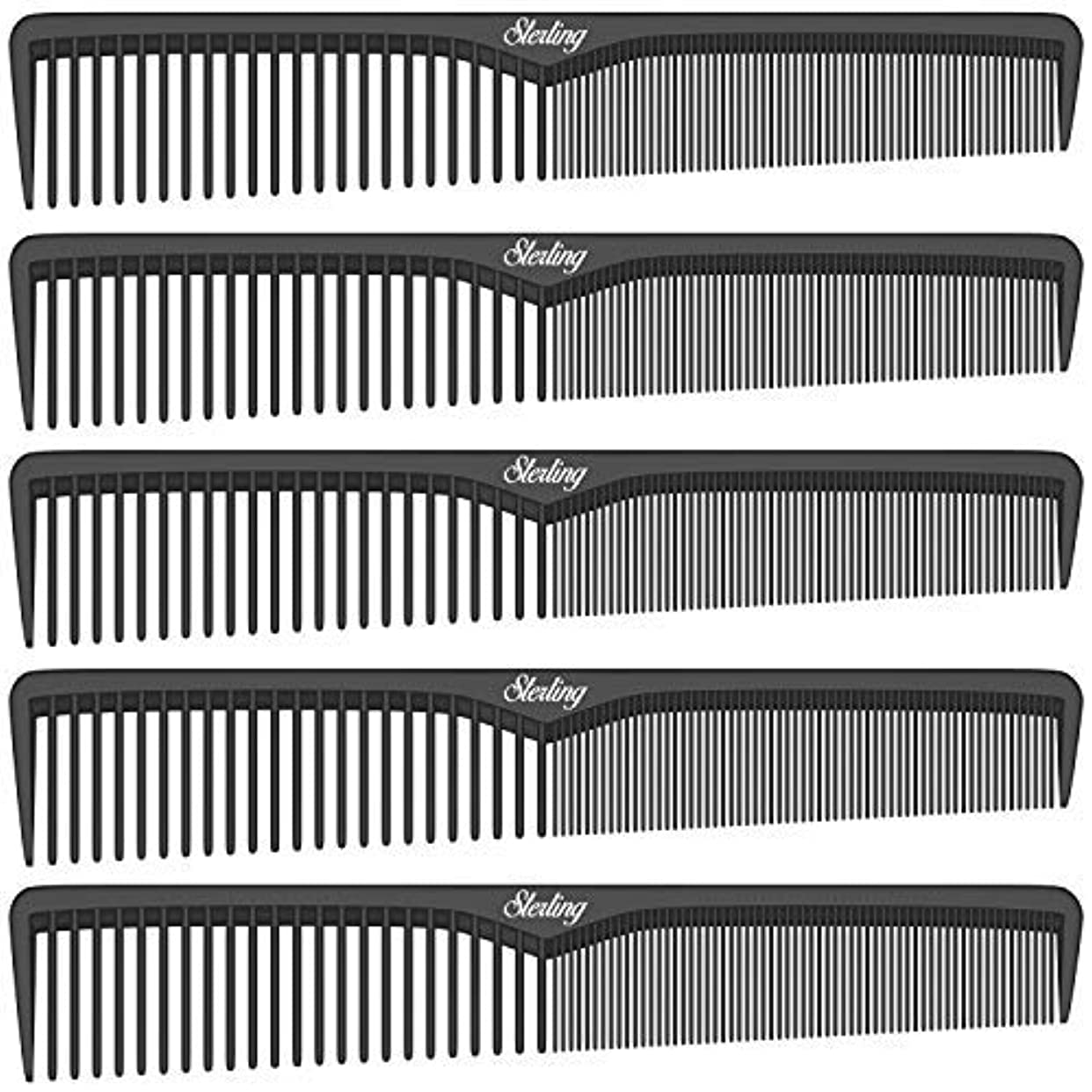 霜線硬いSterling Beauty Tools Styling Combs, Professional 7