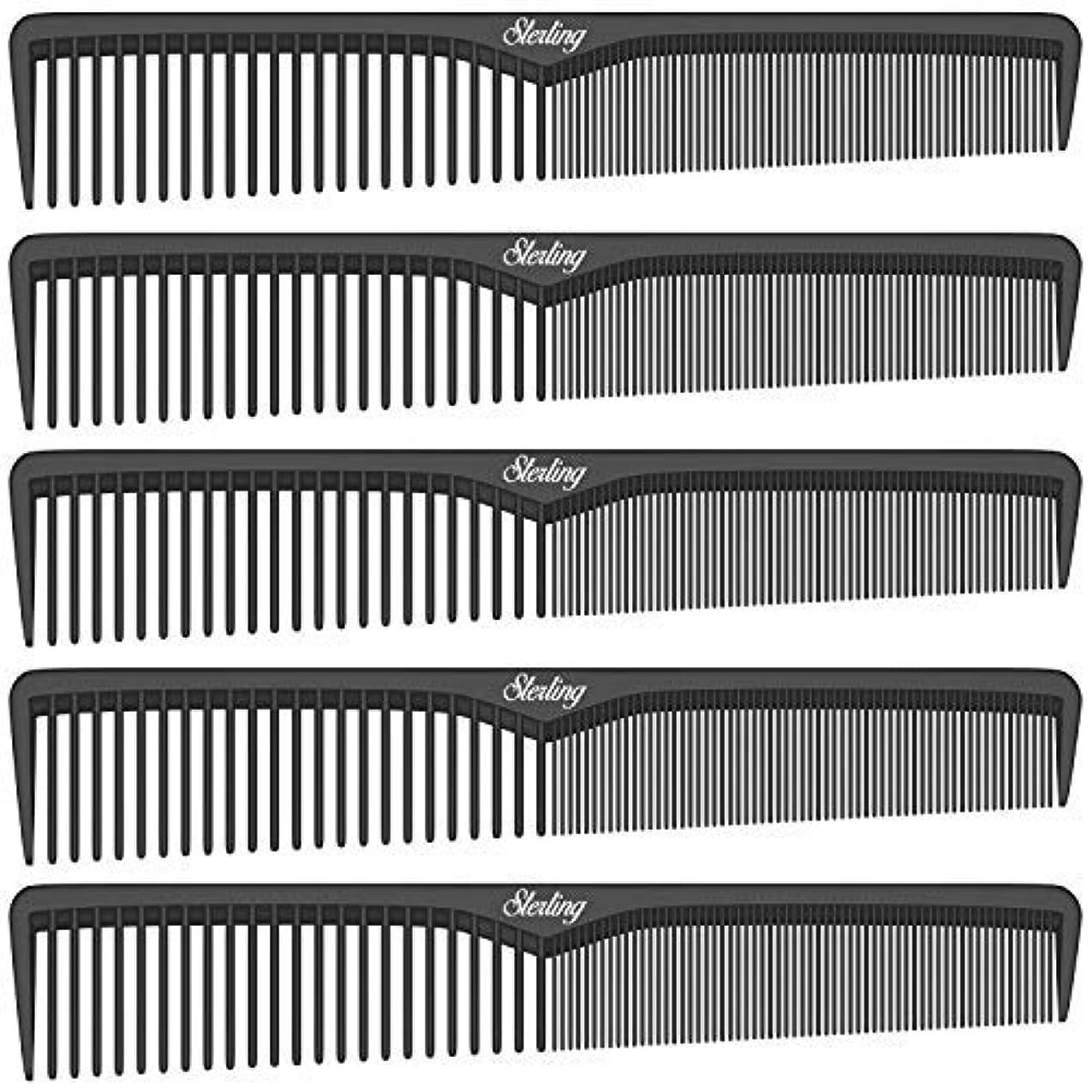 累積債務者お金ゴムSterling Beauty Tools Styling Combs, Professional 7