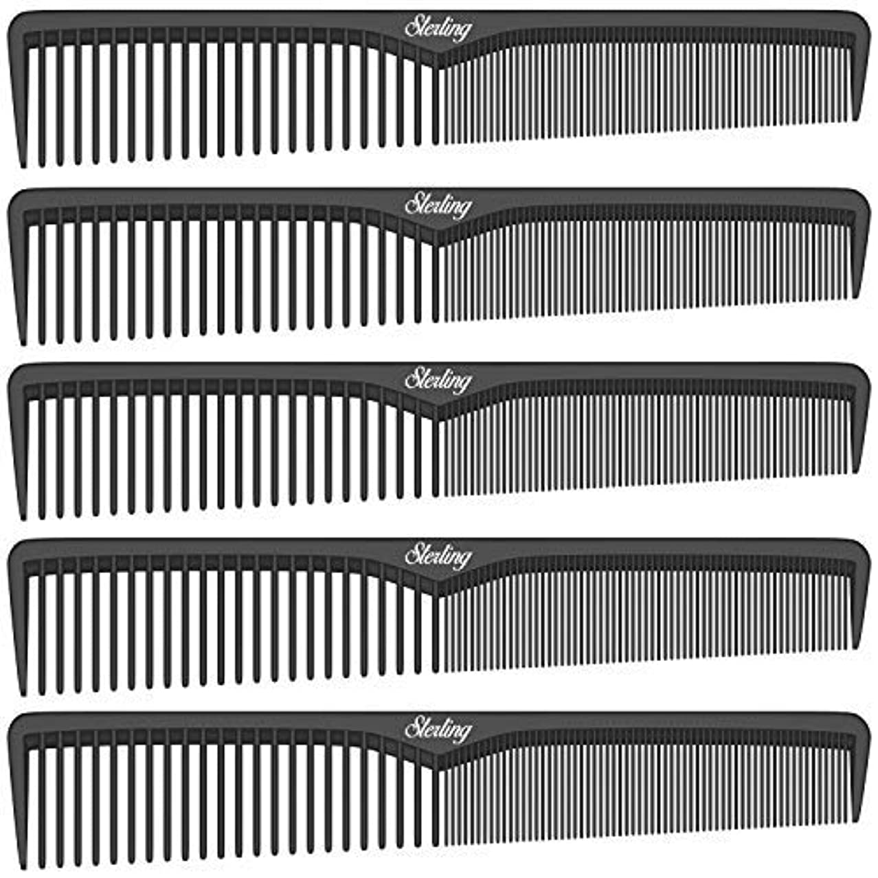 ロケット省感嘆符Sterling Beauty Tools Styling Combs, Professional 7