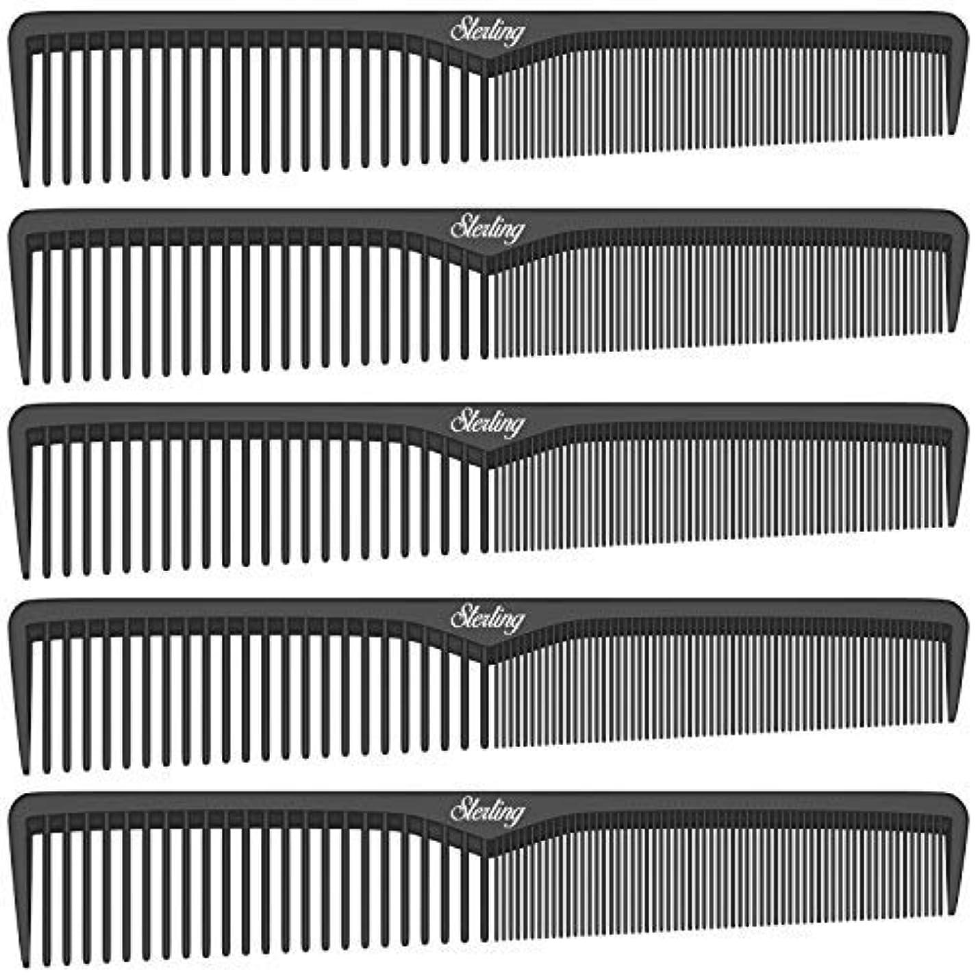 死長いです肌Sterling Beauty Tools Styling Combs, Professional 7