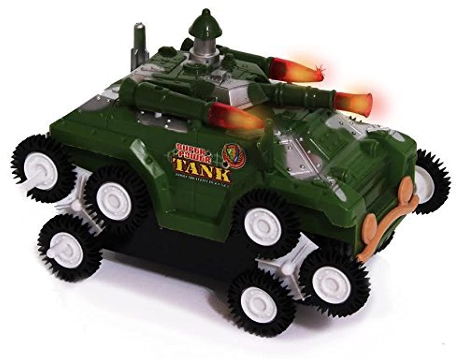 Dazzling Toys Military Battle Tank with Flashing Lights and Army Sound