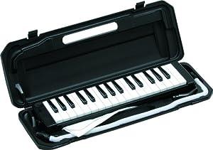 KC 鍵盤ハーモニカ メロディピアノ 32鍵 ブラック P3001-32K/BK (ドレミ表記シール・クロス・お名前シール付き)