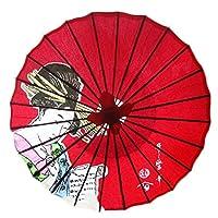 非防水手作り日本のオイルペーパー傘のレストラン傘を装飾 #54