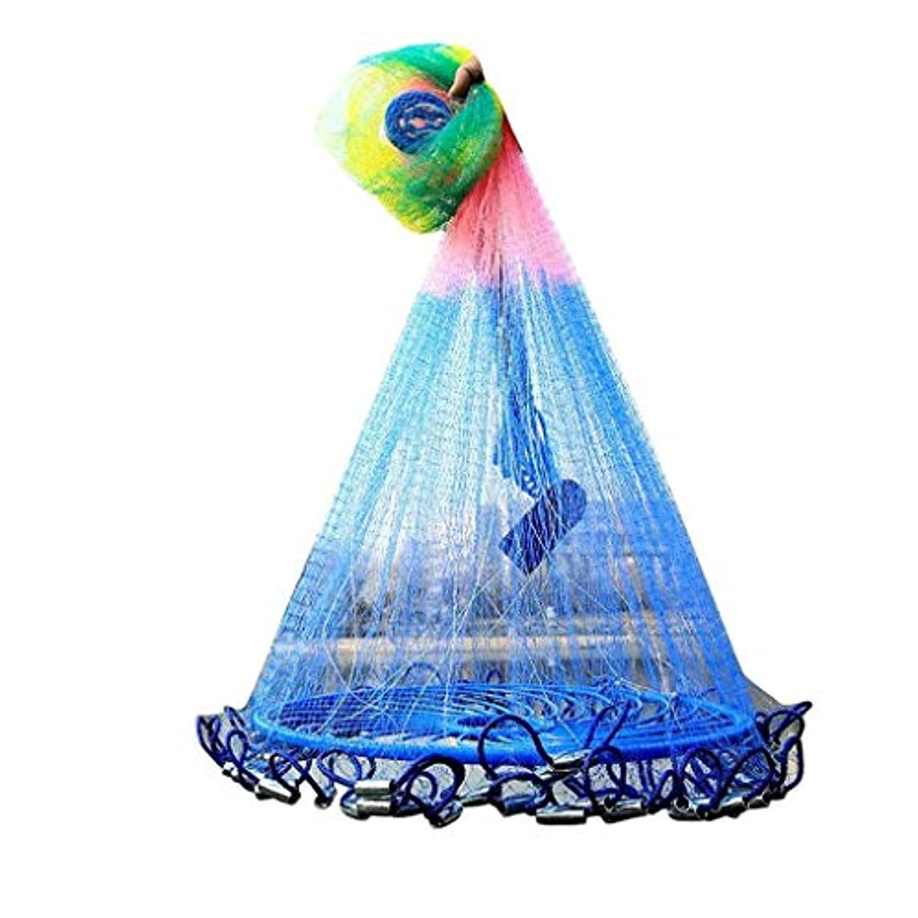 救援トランスミッション見分けるディスクフィッシングネット大径手投げリングフィッシングネット折りたたみ漁網用マリンフィッシング