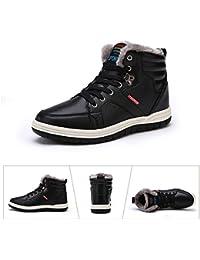 Mannpoスノーシューズ ブーツ メンズ 防滑 防水 防寒のスノーブーツ 雪靴 アウトドア 通勤用(6色オプションの選択)