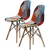 La Bella Eames DSW Dining Chair - Multi-Colour X2
