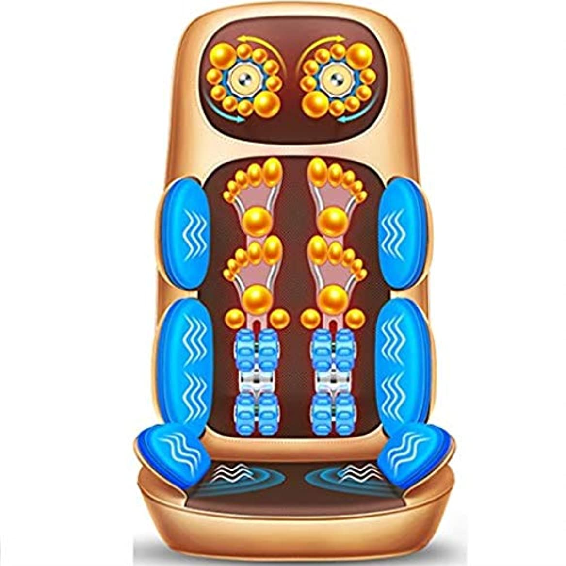 説得力のある占める繊維電気マッサージクッション、多機能ボディマッサージクッション、車のホームオフィスに適した、首腰肩暖房クッション
