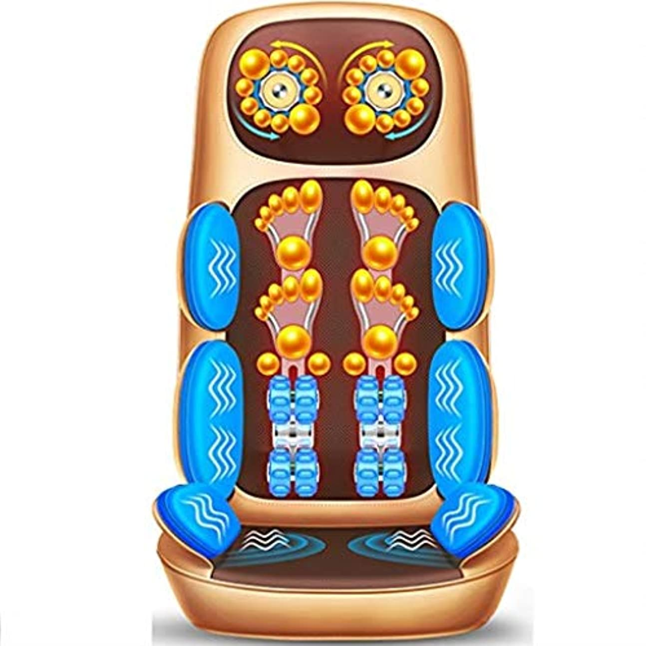 枕送ったインテリア電気マッサージクッション、多機能ボディマッサージクッション、車のホームオフィスに適した、首腰肩暖房クッション