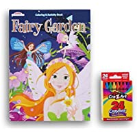Fairy Garden Coloring and Activity Book with Basicクレヨン