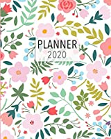 Planner 2020: 2020 Weekly Planner. Monthly Calendars, Daily Schedule, Important Dates, Mood Tracker, Goals and Thoughts all in One! Beautiful Spring Flower Cover.