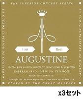 AUGUSTINE/オーガスチン IMPERIAL/RED×3セット ミディアムテンション
