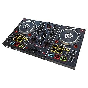 Numark ミラーボール付き 2デッキDJコントローラー Virtual DJ LE付属 Party Mix