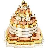 """Sri Yantra, Shri Meru Yantra, Sri Chakra in Ashtadhatu & Brass Gold/Silver/Copper Tone Polish Sizes 3"""" & 2"""" Inches - Spiritua"""