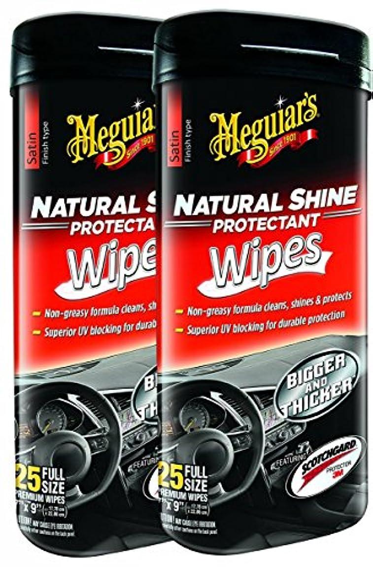 退屈ケージプレミアムMeguiar 's g4100 Natural Shine Protectantワイプ – 2パック