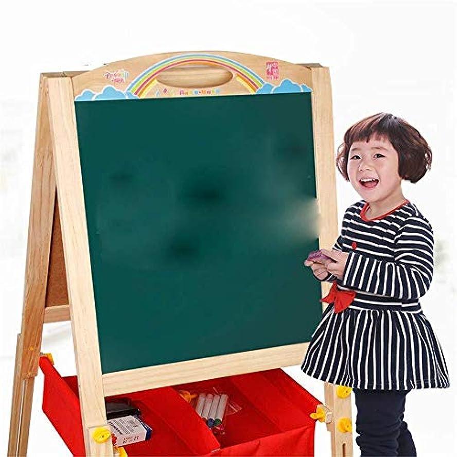 最も早い千キウイ1つのKIDS KIDS WOODEN表に子供2のためのアートイーゼル学習ボード+ EXTRASスタンドイーゼル
