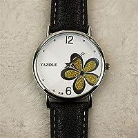 MOZISEN スタイリッシュな時計 338時計通勤OL風女性の腕時計四葉クローバークォーツ時計女性モデル 美しい時計 (Color : 9)