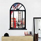 3D Windowsの風景London Big ben 立体装飾的な絵画の壁のステッカー創造的な壁画壁のステッカーPVC