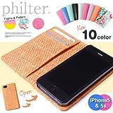 philter♪  iPhone5/5s対応♪ 総柄iPhoneケース 全10color (ブラック(スムース))