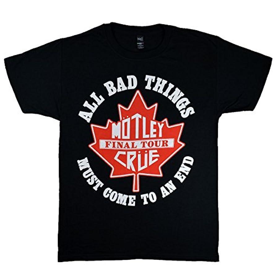 ベンチャー幾分つばMOTLEY CRUE モトリークルー Shield Canada Tour 2014 オフィシャル Tシャツ ブラック