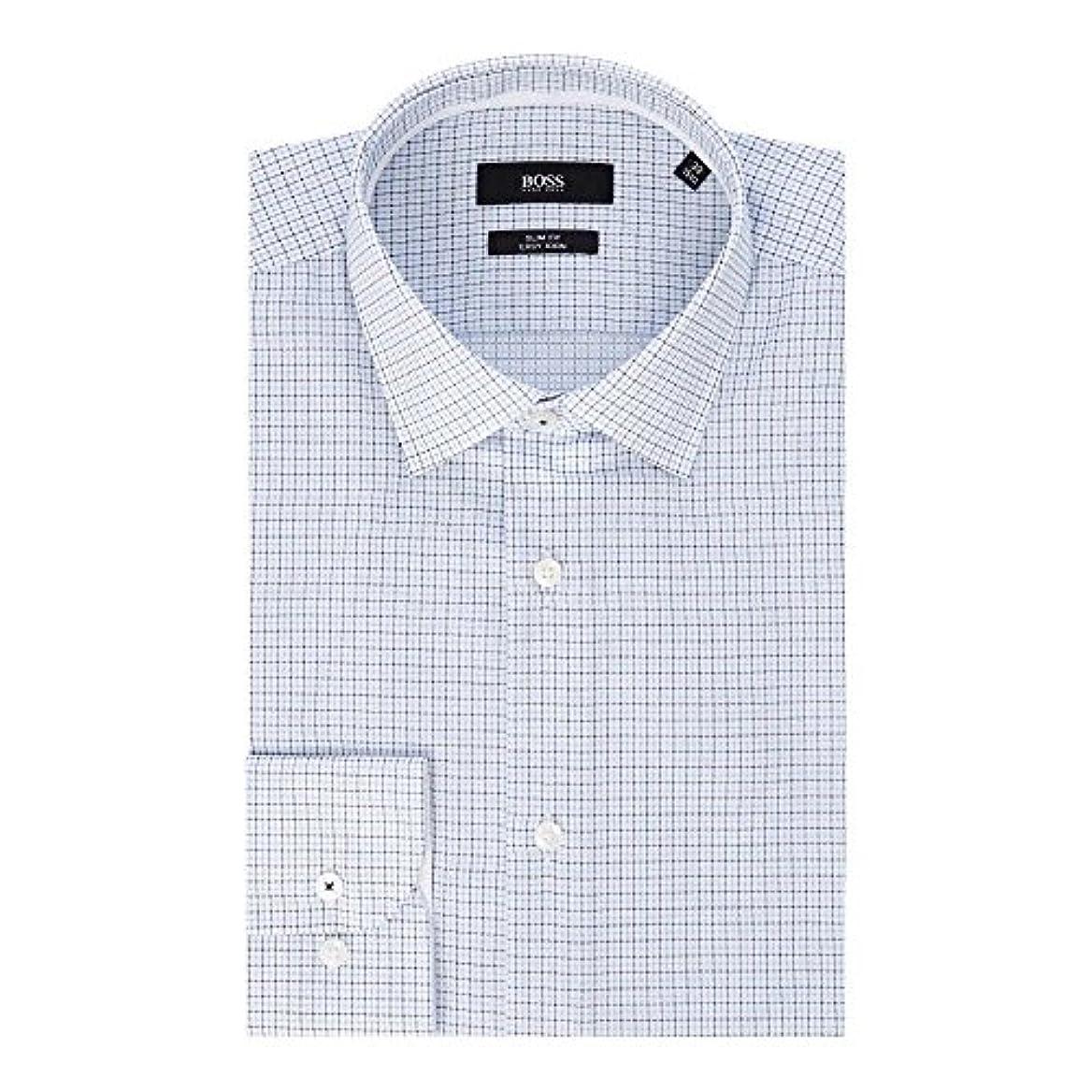 免疫する不注意さようなら(ヒューゴ ボス) Hugo Boss メンズ トップス シャツ Jesse Slim Fit Multi Grid Texture Shirt [並行輸入品]