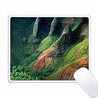 アメリカ、ハワイ、カウアイ。 Awaawapui TrailのNa Pali Cliffsです。 PC Mouse Pad パソコン マウスパッド